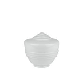 Glazen bol model Candy opaal wit d-21cm h-18cm gr-10cm nr 6530.00