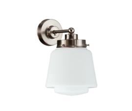 Wandlamp wandmini mat nikkel met opaal bol Dop nr 7Wm-471.00