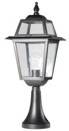 Buitenlamp sokkel 53cm serie Perla zwart nr: 132