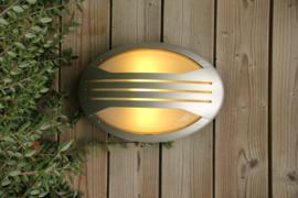 Buitenlamp wand serie Jack Polycarbonaat zilver E27 nr: 2267zilver
