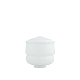 glazen bol model Button 18cm opaal wit d-18cm gr-85mm nr 461.00