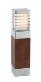 Buitenlamp serie Selham staand 49cm hout/gegalvaniseerd nr: 3266