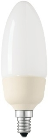 Philips spaarlamp kaars soft ES B35 8W E14 kleur 827 nr: 18-PLE8WE14B35mini