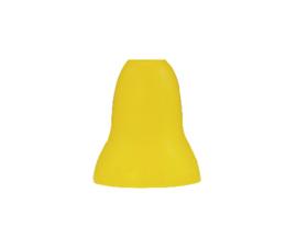 Mondgeblazen glazen lampenkap mat geel opening 2cm voor G9 fitting nr 89.31