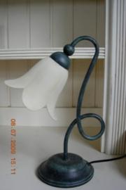 "Tafellamp italiaans met lus kleur ""verde antico"""