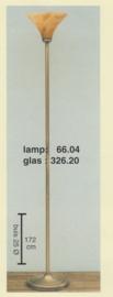 Vloerlamp uplight h-172cm buis 25mm oud messing marmer kelk nr 066.04-326.20
