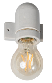 Vintage wandlamp Corodex porselein grijs E27 h8 br7,5 d8 nr 05-FK8812-99