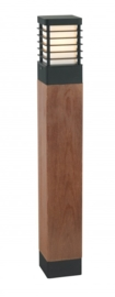 Buitenlamp serie Selham staand 85cm hout/zwart nr: 3065