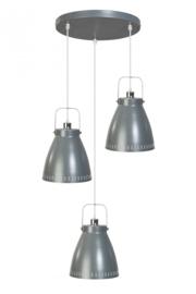 Hanglamp Acate 3L rond dia 26,5cm grijs nr 05-HL4242-93
