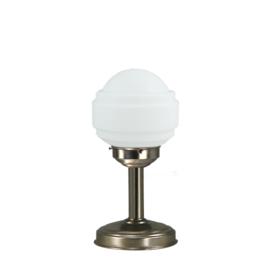 Tafellamp strak mat nikkel bs20 h33cm Sonate bol opaal nr 7Tu-477.00