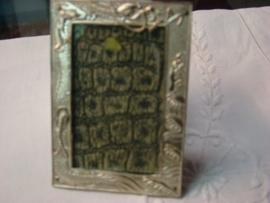 Leuk fotolijstje zilverplate op koper