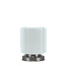 Getrapte tafellamp model blok mat nikkel met opaal kap Adidas 20cm nr 7Tp1-488.00