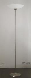 Vloerlamp uplight h-172 mat nikkel met gesatineerde schaal nr 45.07
