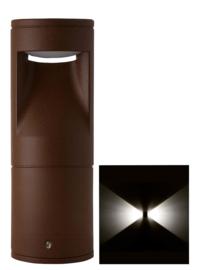 Buitenlamp sokkel Lako h-18cm 2 zijden licht LED 7W roestbruin nr 409.018/2-14