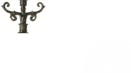Buitenlamp koppelstuk voor mast antiek groen serie Nuova nr: 1515