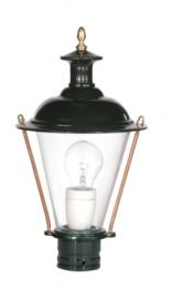 Buitenlamp lichtkop h-34cm antiek groen/koper serie Nuova nr 1590
