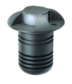 Buitenspot grondspot 4-bundels ALU antraciet LED 5W gat 6,4cm nr 5386