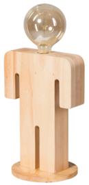 Tafellamp Adam XL serie family hout 1xE27 h 36cm br 24,5cm nr 05-TL3292-73