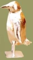Antiek nikkel pinguin