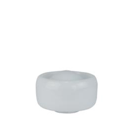Glazen bol model Meltdown opaal wit d-23cm h-12cm gr-10cm nr 2312.00