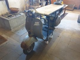 Scooter bar met wijnrek glazen rek werkblad en opbergvak br-200cm nr 30019