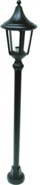 Buitenlamp mast 97cm serie Venezia ALU zwart nr 4013