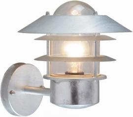 Buitenlamp wand zink/gegalvaniseerd 2jr garantie nr 074