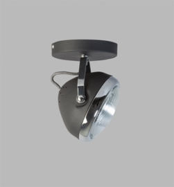 Wand- plafondspot 1L h20cm zwart chrome nr 05-SP1250-1130
