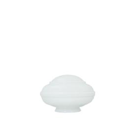 Glazen bol model Ufo opaal wit d-21cm h-12cm gr-10cm nr 472.00