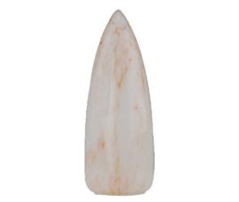 Mondgeblazen kap menhir gt-4cm gemarmerd voor kleine (E-14) fitting met klemveer nr 291.60