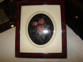 Schilderijtje met roosje
