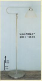 Vloerlamp lees Trombone mat nikkel met calimero champ. 20cm nr 1302.07-195.50