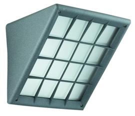 Buitenlamp wand raster serie Triangolo h 19cm E27 grafiet nr 4160