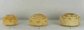 Glazen bol model trapkap medium gemarmerde kleur nr: 430.60