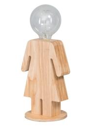 Tafellamp Eva serie family hout 1xE27 h 24cm br 15,5cm nr 05-TL3289-73