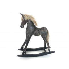 Schommelpaard antiek grijs model Goyang h66cm nr 7392