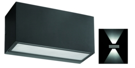 Buitenlamp wandspot dubbel serie Vista grafiet 22,5x11cm nr 3100