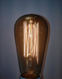 Global-Lux edisonlamp 60W 64x135mm E27 kooldraad rook nr 6-181126