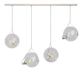 Hanglamp kristal helder glas 4 bollen balk staal nr 05-HL4411-60