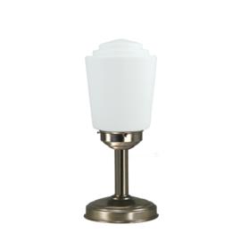 Tafellamp strak mat nikkel bs20 h37cm Kurk bol opaal nr 7Tu-467.00