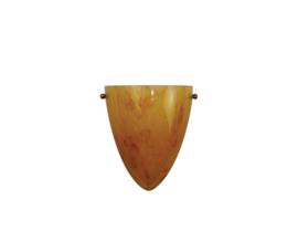 Wandlamp druppel S. met ophanging donker gemarmerde kap nr 2292.07 + h292.20