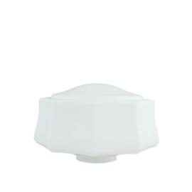 glazen bol model Austin opaal wit d-31cm h-17cm gr-11cm nr 491.00