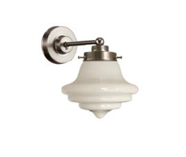 Wandlamp wandmini mat nikkel met opaal bol Bel nr 7Wm-409.00