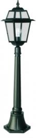 Buitenlamp mast 116cm serie Perla zwart nr: 134