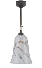 Schuifstang 2x25cm midden bruin wit gemarmerde super klokkap nr 1Sb-543.10