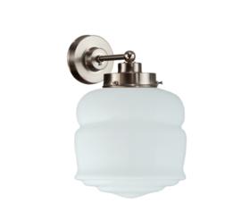 Wandlamp wandmini mat nikkel met opaal bol Button nr 7Wm-461.00