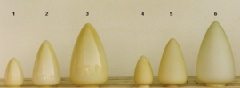 Glazen kap bolvormig model Traan/Druppel klein (1) nr: 292.50 champagne