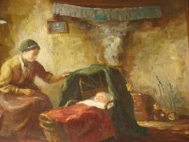 Schilderij oud-Hollands tafereeltjeVERKOCHT