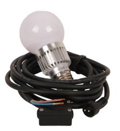 Buitenspot lamp omvormkabel 230 naar 12V E27 led 3W nr LS1