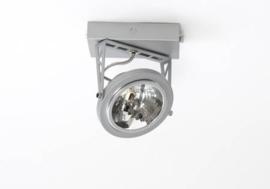 Lofar opbouw spot 1-L mat zilver SHOW met osram lichtbron 05-SP1277-17S